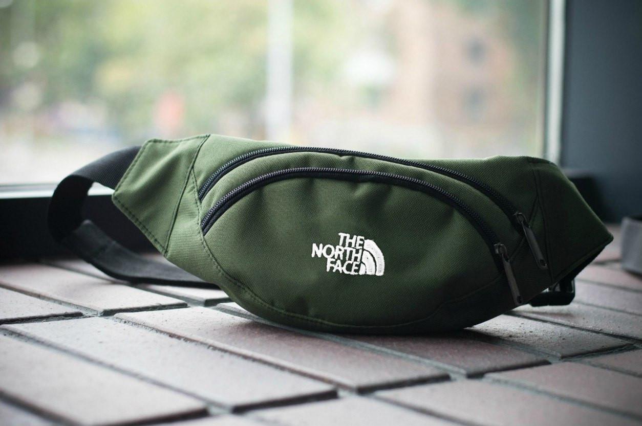 Поясная сумка The North Face (оливковая)