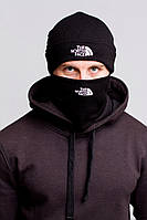 Шапка The North Face зимняя (чёрная) Winter 2018