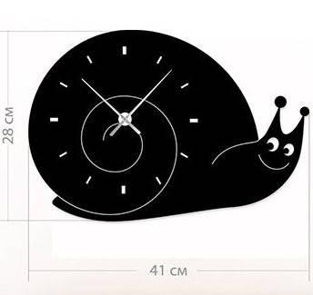 """Часы настенные для детей """"Улитка"""" (41x28 см) [Акрил, Открытые]"""