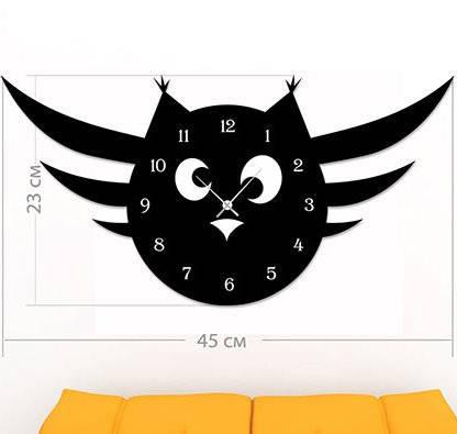 """Детские настенные часы """"Сова"""" (45x23 см) [Акрил, Открытые]"""