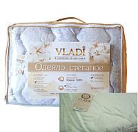 """Стёганое одеяло """"Vladi"""" шерсть 100% микрофибра двуспальное 170*210 Влади"""