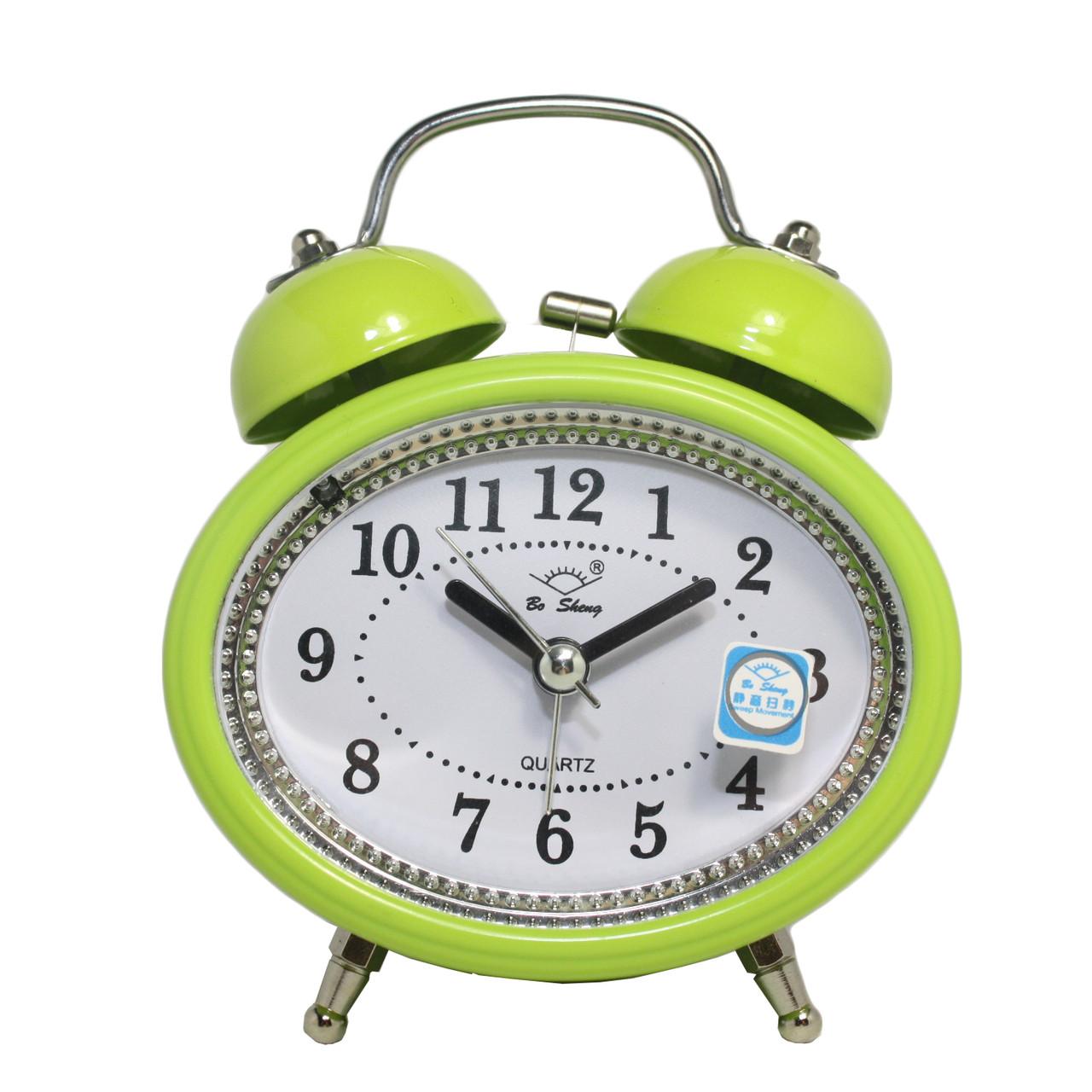 Будильник №67 часы настольные с подсветкой (зеленый)