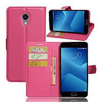 Чехол Meizu M5 Note книжка PU-Кожа розовый