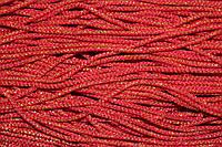Шнур 2.5мм (100м) красный + золото , фото 1