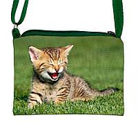 Детская сумочка для девочки с принтом Кошка   (М.Л.В.)