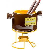 Набор для фондю Chocolate коричневый