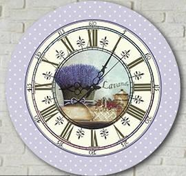 """Настенные часы """"Лаванда"""" (30х30 см) [Акрил, Открытые]"""