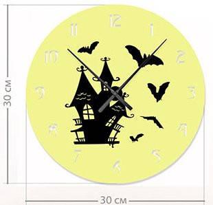 """Детские настенные часы """"Домик ведьмы"""" (30x30 см) [Акрил, Открытые]"""