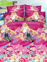 Комплект детского постельного белья подростковый Мир Барби  ранфорс