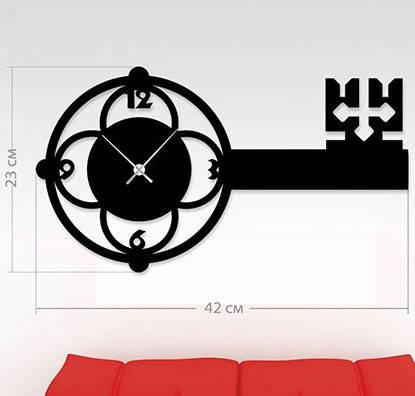 """Детские настенные часы """"Ключ"""" (42x23 см) [Акрил, Открытые]"""