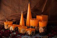 Декоративная  свеча Квадрат оранжевый Molledo 70/70/70mm