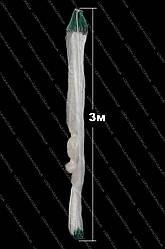 Сеть россиянка трехстенка 100м х 3м (Белая) из лески (Ø 35). Sadei. Груз свинец