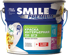 Краска интер латексная «SMILE®» PREMIUM SI23 Блеск 20 14кг/10л