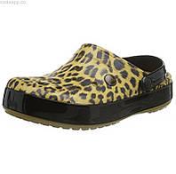Женские Крокс crocs Women's Crocband Leopard II Clog Mule