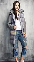 Пальто с мехом норки + кашемир с плащевкой