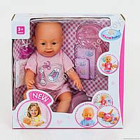 Пупс Warm baby(аналог Baby Born), с 2-мя сосками, 2 вида (ОПТОМ) 8009-434 A