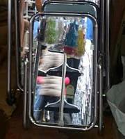 Зеркало обувное хром, фото 1