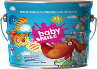 Краска интерьерная латексная «BABY SMILE®» SI24 4,2кг/3л