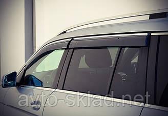 Дефлекторы окон (ветровики) Mercedes-Benz GL166 2013- С Хром Молдингомом