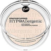 Гипоалергенная пудра для лица и тела , придающия сияние Hypo Allergenic 6 г Bell