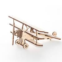 """Развивающий деревянный конструктор 3D пазл """"Аэроплан"""" (оригинальная сборная объемная модель из дерева)"""