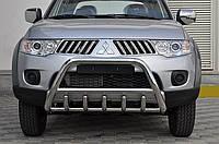 Защита переднего бампера (кенгурятник)  Mitsubishi L-200 2010+