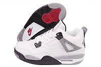 Кроссовки мужские Nike Air Jordan 4 Retro белые
