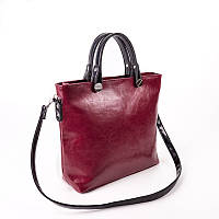 Сумка женская розовая М61-52 эффект масло деловой стиль