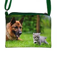 Детская сумочка для девочки с принтом Кошка с собакой  (М.Л.В.)