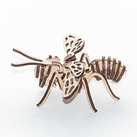 """Развивающий деревянный конструктор 3D пазл """"Бджола"""" (оригинальная сборная объемная модель из дерева), фото 1"""