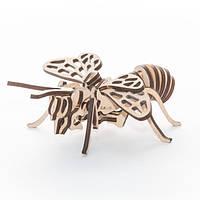 """Развивающий деревянный конструктор 3D пазл """"Бджола"""" (оригинальная сборная объемная модель из дерева)"""