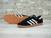 Мужские кроссовки Adidas Hamburg Black White Gum, фото 1