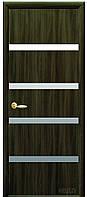 Дверь КВАДРА НОТА экошпон: венге 3D, дуб жемчужный, кедр, ясень патина, сандал (зеркало) тип1