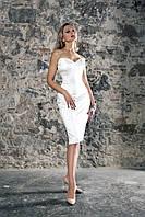 Короткое свадебное платье с корсетом «My Fair Lady» французская длина