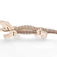 """Развивающий деревянный конструктор 3D пазл """"Крокодил"""" (оригинальная сборная объемная модель из дерева)"""