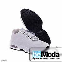 Удобные женские кроссовки white из качественной экокожи на рельефной подошве белые