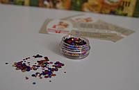 Цветные паетки для ногтей №1