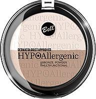 Гипоалергенная  бронзирующая пудра  Hypo Allergenic  10 г Bell  01
