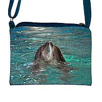 Детская сумочка для девочки с принтом Дельфины  (М.Л.В.)