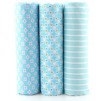 Набор отрезов ткани для пэчворка, голубой орнамент