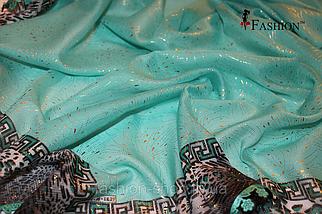 Платок-косынка женский Бирюза, фото 3