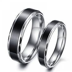 """Парные кольца для двоих """"Хранители Наших Сердец"""" мед сталь черные"""