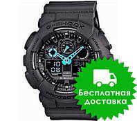 Часы Casio G-Shock GA-100 BLACK LIGHT BLUE