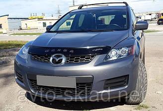 Дефлектор капота (мухобойка) Mazda CX-7 2006-