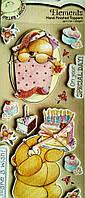 Наклейка 3D для скрапбукинга Мишки Тедди