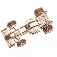"""Развивающий деревянный конструктор 3D пазл """"Болид"""" (оригинальная сборная объемная модель из дерева), фото 1"""