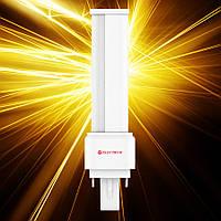Светодиодная лампа ELECTRUM PL 9W LW-14 G24 4000К мат.ал./к.