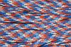 Шнур плоский ХБ 15мм (50м) молоко+голубой+оранж