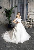 """Свадебное платье с рукавами «Dream of me"""" с длинным шлейфом"""