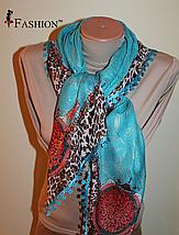 Женский платок Весна Голубой, фото 2